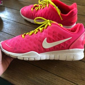 Nike Shoes in Pink and Neon green
